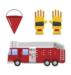 Detailed of fire truck vector