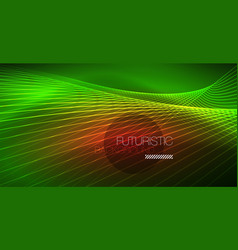 Digital technology abstract background - neon vector