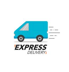 Express delivery icon concept van service order vector