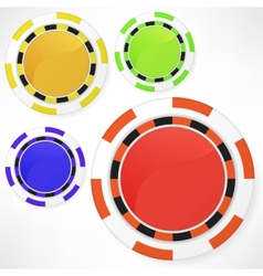Falling Poker Chips vector image