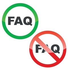 FAQ permission signs set vector