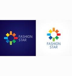 fashion star logo vector image