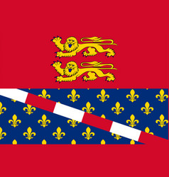 Flag of eure in normandy is a region of france vector