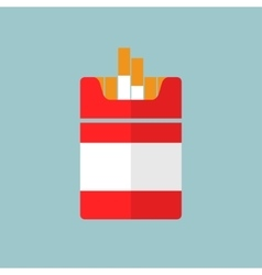 Flat Cigarettes icon vector