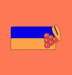 flat icon on background ukrainian flag vector image