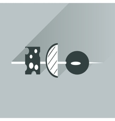 Flat with shadow icon appetizer on bright vector