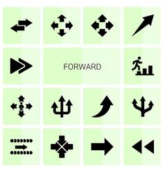 forward icons vector image