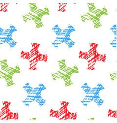 geometric seamless pattern hand drawn vector image