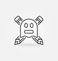 Ghostwriter concept icon vector