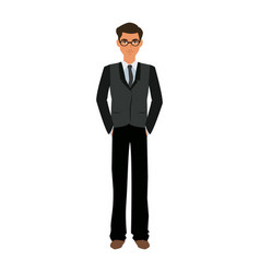 handsome man business manager employee vector image