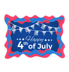 happy 4th of july abstract with paper vector image