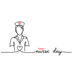 Happy nurse day simple web banner vector