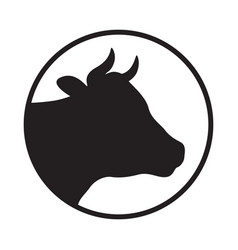 Head cow vector