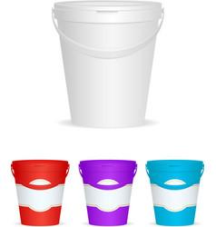 Ice cream plastic container vector