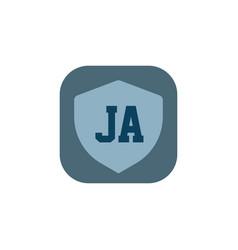 initial letter logo ja template design vector image