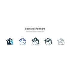 Insurance for home tornado icon in different vector