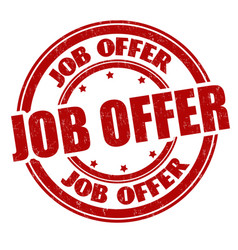 Job offer grunge rubber stamp vector
