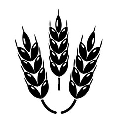 juicy wheat icon simple style vector image