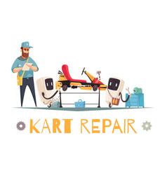 Kart repair vector