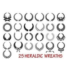Laurel wreath heraldic set vector image