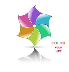 Logo flower vector
