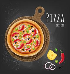 Mexican pizza vector