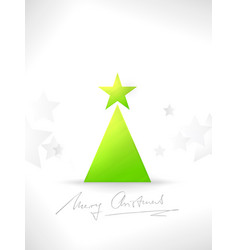 modern minimalistic stylized christmas tree vector image