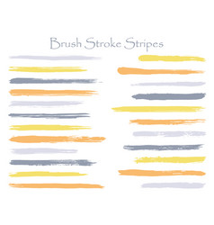 Mottled ink grey orange brush stroke stripes vector