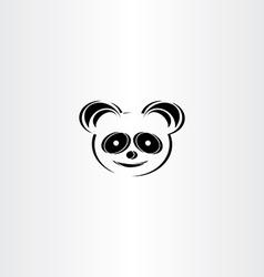 panda icon stylized icon vector image