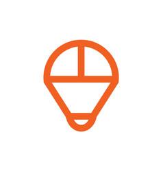 parachute outline symbols vector image