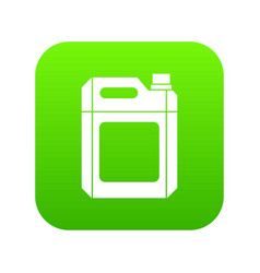 Plastic jerry can icon digital green vector