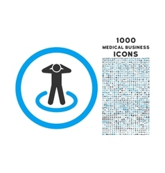 Prisoner Rounded Icon with 1000 Bonus Icons vector image