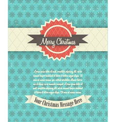 Retro Christmas Card Design vector image