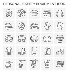 Safety equipment icon vector