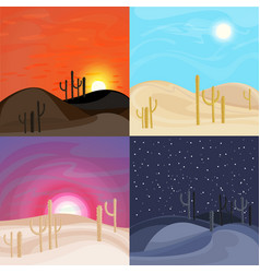 Sand desert landscape templates vector