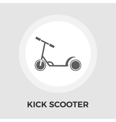 Scooter child flat icon vector image
