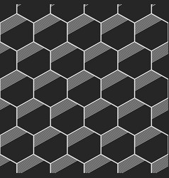 Seamless geometric abstract patterns of hexagons vector