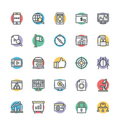SEO and Internet Marketing Cool Icons 2 vector