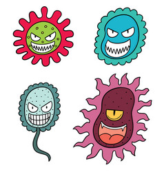 set of bacteria vector image