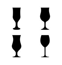 silhouette glass collection vector image