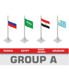 soccer world championship tournament group vector image