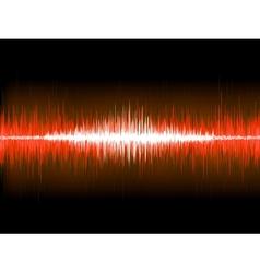 Sound waves on black background EPS 10 vector