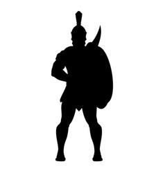 sparta silhouette 0004 vector image