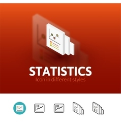 Statistics icon in different style vector image