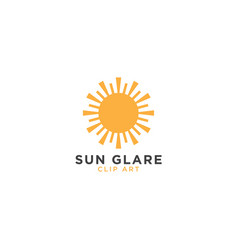 sun glare graphic design template vector image