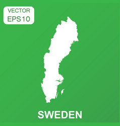 sweden map icon business concept sweden pictogram vector image