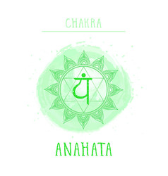 Symbol chakra anahata vector