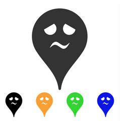 Sadness smiley map marker icon royalty free vector image trouble smiley map marker icon vector image publicscrutiny Choice Image