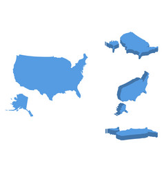 usa isometric map country isolated on a white vector image