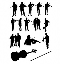 violinists vector image